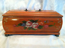 Wooden Trinket Box Storage Jewelry Handmade - Soft inside lining- Casket Shaped