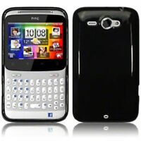 NEW Black Gel Silicone Rubber Case Cover Skin for HTC ChaCha Cha Cha TPU UK