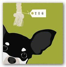 DOG ART PRINT Peek A Boo Chihuahua Yuko Lau