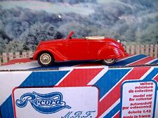 1/43 Record  (France) Peugeot 202 cabriolet Handmade Resin Model Car