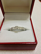 14K WHITE GOLD LADIES  DIAMOND ENGAGEMENT RING 0.65Ctw NO RESERVE