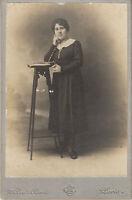 Carte photo ancienne portrait femme mode14/18 la Samaritaine Melle Lina