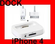 ★★★ DOCK STATION BLANC + CABLE USB POUR IPHONE 4G et 4S ★★★