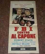 LOCANDINA, FBI CONTRO AL CAPONE (THE SCARFACE MOB), STACK, BRAND, RARA!!!