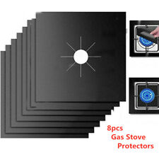 8 Pcs Gas Range Stove Top Burner Cover Protector Liner Non-stick Cooktop Clean