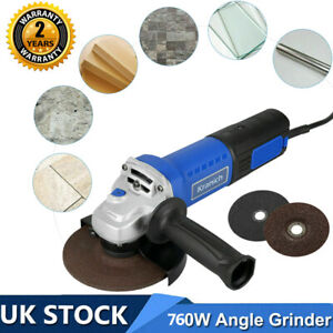 Small Mini Electric Angle Grinder 100mm 760W+Cutting Disc Grinding Sawing 4'' UK