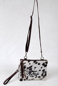 Real Cowhide Cross body Purse Handbag & Hand Clutch  Cow Hide Leather  SA-6620
