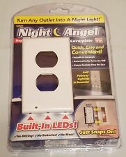 New Night Angel Duplex Lighted Wall Outlet Coverplate Built-In LEDs Lighting