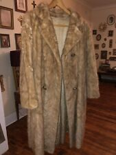 Vintage Womens Tan Mink Fur Coat Sz Sx/S