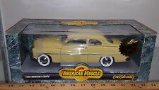 1/18 ERTL AMERICAN MUSCLE 1949 MERCURY COUPE YELLOW gd