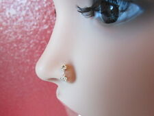 Stylish Sterling Silver Nose Stud Drop Dangle with CZ 925 solid silver ball end