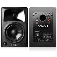 "NIB Denon DN-304S 4"" Desktop Speakers Media Creation PC Pair Like M-Audio AV-42"