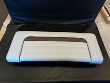 "SEA RAY 370 SUNDANCER TRANSOM CUSHION WHITE / TAN / BROWN 39 1/2"" X 15 1/2"" BOAT"
