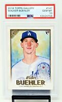 2018 Topps Gallery LA Dodgers Star WALKER BUEHLER Rookie Card PSA 10 GEM MINT