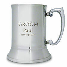 Personalised Engraved Groom Tankard - Thank You, Congratulations, Husband