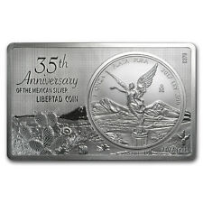 2017 Mexico 2-Pc Silver 35th Anniv of Libertad Coin/Bar Set 3 oz
