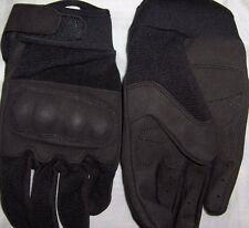 TACTICAL GLOVES LEATHER HARD KNUCKLES BLACK,ACU S,M,L,XL
