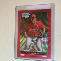 F52505 2012 Bowman Chrome Prospects Red Wave Refractors Tyler Rahmatulla /25