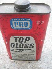 Vintage Pro Top Gloss Burford Auto Santa Ana Calif Advertising Empty Can