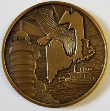 "USBP US Border Patrol Calais Station Maine BARING ME Homeland Sec Coin 1.75"""