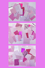 Craft Paper and Card pack, PINK, 30 pieces. Good value !