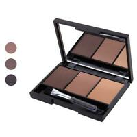 Makeup Natural Eyebrow Powder Palette Eye Shadow Kit Brush Cosmetic Beauty L6C0
