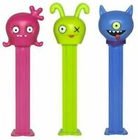 UGLY DOLLS PEZ SET OF 3 - MOXY(RED), OX(GREEN) & UGLY DOG(BLUE) MINT ON US CARDS