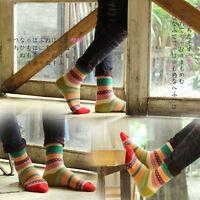 Unisex Stripe Cotton Socks Design Multi-Color Fashion Women's Men's Retro Socks