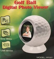 NEW Sungale Golf Ball Digital Photo Slide Show Photo Viewer Holds 100 Image