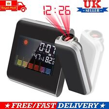 Digital Projection Alarm Clock LED with Temperature Weather Station LCD Display