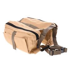 Pet Saddle Bag Backpack for Large Dog, Detachable Pack Turns into Harness
