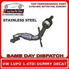 VW LUPO 1.4 TDI manichino DECAT sostituzione cat Tubo di Scarico, Acciaio Inox