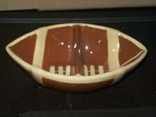FOOTBALL SHAPED DIVIDED CANDY/TRINKET/JEWELRY/COIN DISH