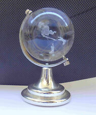 Collectible JOHNNIE WALKER Solid Glass Miniature Globe Paperweight Free Shipping