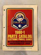 Bally 1980-1 Pinball Parts Catalog
