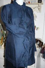 Bellybutton   Volant Bluse Langarm Kima Cotton/Silk Navy  size:38  Neu