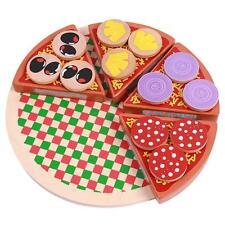 Creative New Kids Wooden Pizza Play Set Kitchen Cooking Pretend Toy InterestingT