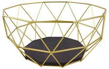 Gold Geometric Style Iron Wire Bowl Basket Home Decor Ornament