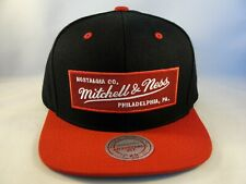 Mitchell & Ness Snapback Hat Cap Black Red