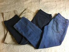 Old Navy Blue Jeans Khaki Blue Pants Men 32/33/34x29 Lot Of 3 Famous Broken In