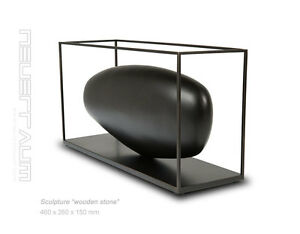 """Modern art sculpture """"Wooden stone"""". 46 x 26 cm."""