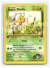 1st Edition Koga's Weedle 82/132 Common Gym Challenge Pokemon Cards NM NEW