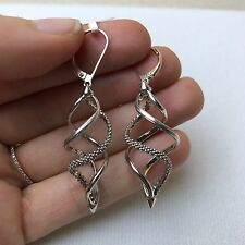 """NEW Authentic LAGOS Caviar Link Silver 925 2.25"""" Spiral Drop Earrings $295"""