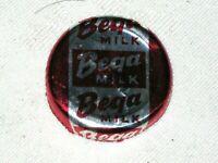A Rare Vintage Foil Bega Milk Logo Tuesday Stamp 1/2 & 1 Pint Milk Bottle Top