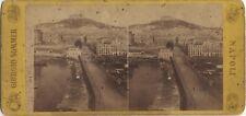 Naples Napoli Italie Sommer Photo Stéréo Stereoview Vintage albumine ca 1870