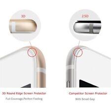 PANZER GLAS FOLIE Display Schutz für Apple iPhone 8 Weiß 3D Curved Tempered 9H
