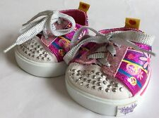 BUILD A BEAR - SKECHERS TWINKLE TOES – PEACE/ FLOWER DESIGN – SNEAKERS/ TRAINERS