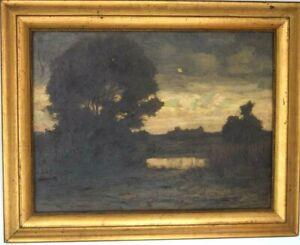 Hans Maulwurf Nürnberg Original-Ölbild 1919 Landschaft bei Katzwang