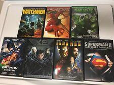 Set Of 7 Superhero DVDs! Spider-Man Batman Superman X-Men MORE!! Free Shipping!