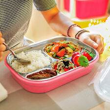 New Stainless Steel Heat Lunch Food Container Student School Bento Box Case